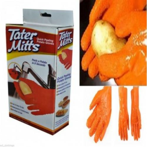 Перчатки для чистки молодого картофеля Tater Mitts