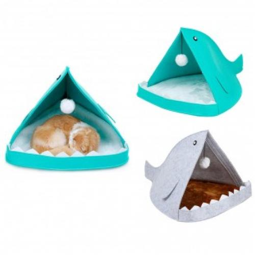 Домик Акула для кошек и собак войлок