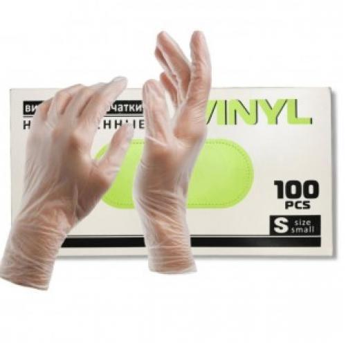 Одноразовые виниловые неопудренные перчатки