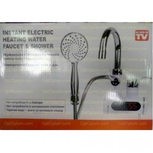 Проточный водонагреватель с душем Instant electric heating water faucet & shower