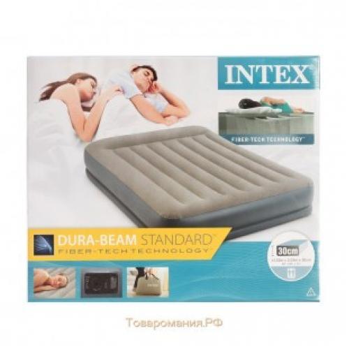 Надувная двуспальная кровать Intex 64118 152 * 203 * 30 см