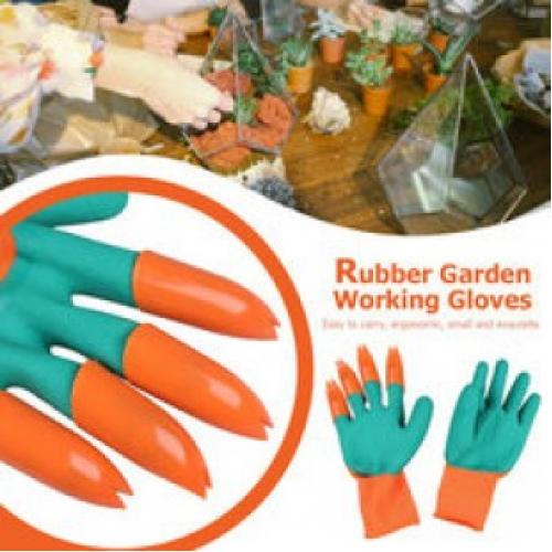 Садовая перчатка с когтями Garden Genie Gloves
