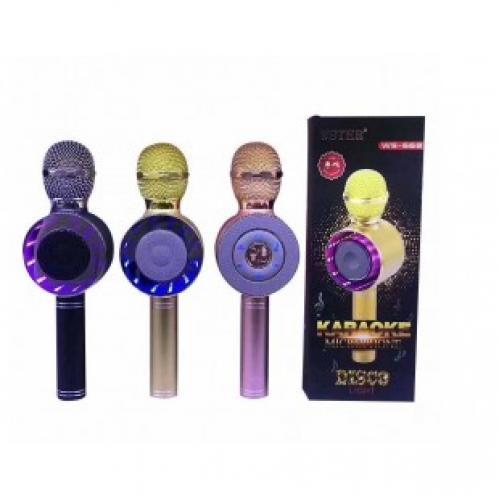 Караоке микрофон с колонкой и подсветкой ws668