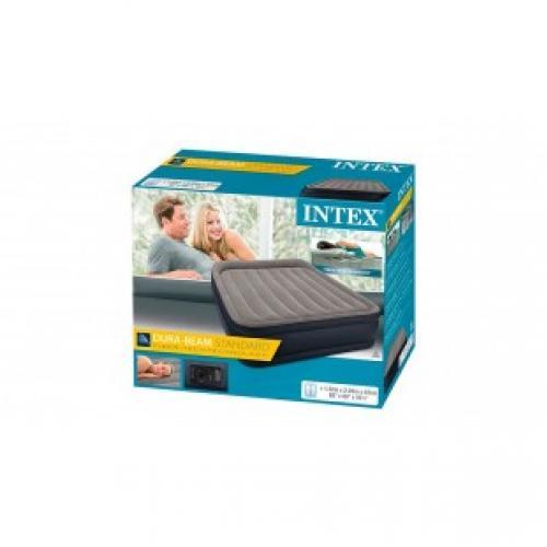 Надувная двуспальная кровать Intex Dura - Beam 152 * 203 * 42 см
