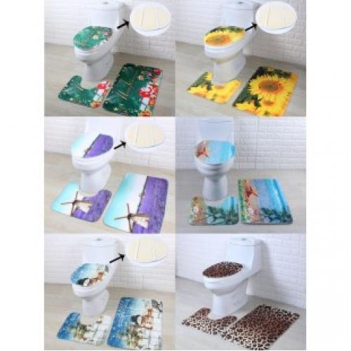 Набор ковриков для ванной и унитаза из 3 предметов