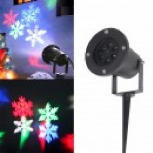 Лазерный проектор Снежинки led strahler schneeflocke лазерная подсветка для дома