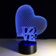 3D светильник в виде сердца CREATIVE Vizualization lamp