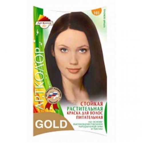 Краска для волос АртКолор Gold 103 черный шоколад