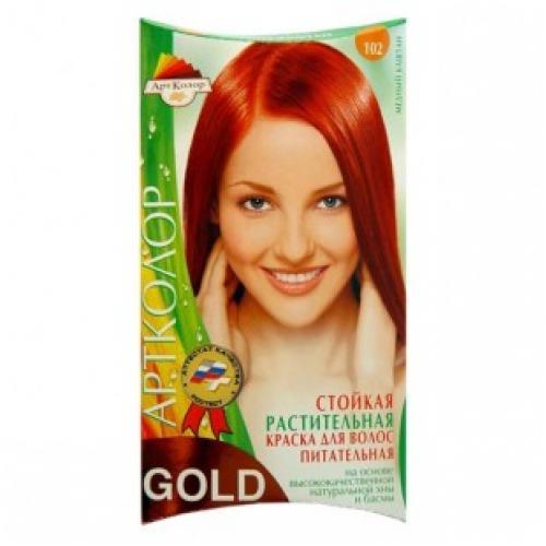 Краска для волос АртКолор Gold 102 медный каштан