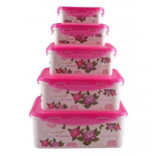 Набор пищевых контейнеров 5 в 1 flower sea