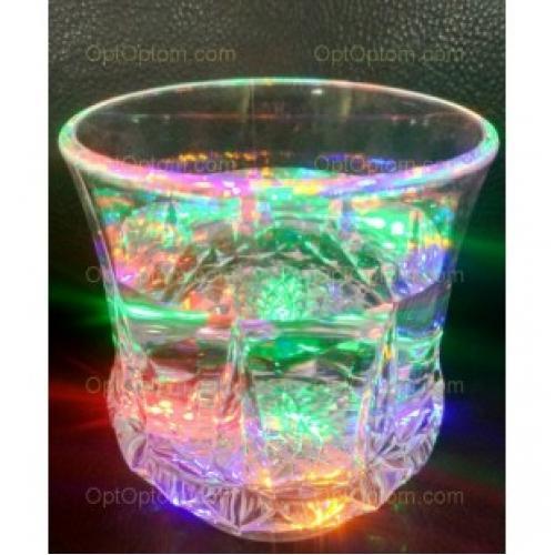 Светящийся Новогодний стакан с ручкой Inductive rainbow COLOR CUR