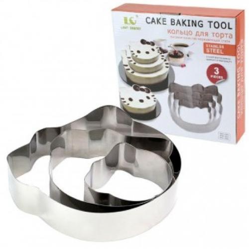Набор форм из нержавеющей стали Hello kitty Cake Baking Tool (3 шт)