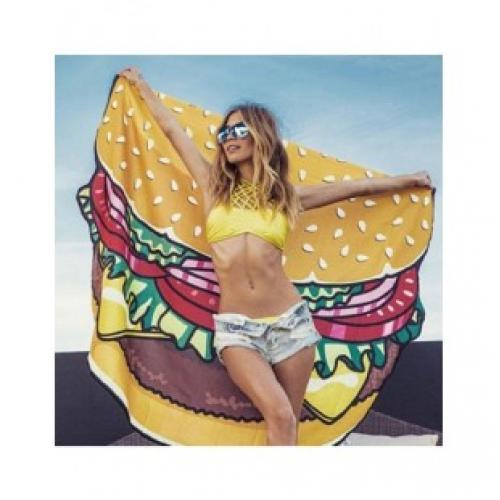 Пляжное полотенце покрывало Гамбургер