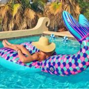 Надувной круг Хвост русалки Mermaid tail