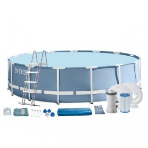 Каркасный бассейн INTEX круглый Prism Frame