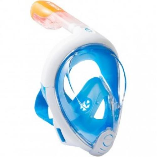 Маска для снорклинга FREE BREATH с заглушками для ушей
