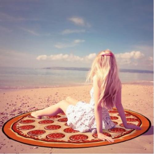 Пляжное полотенце покрывало Пицца