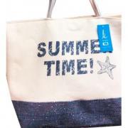 Пляжная сумка Summer time светлая