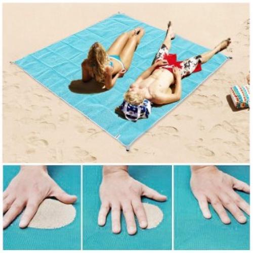 Пляжный коврик покрывало Антипесок