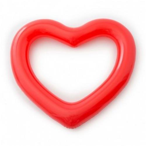 Надувной круг для плавания сердце