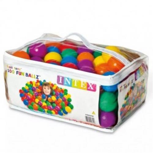 Набор шариков мячей для игровых центров INTEX FUN BALLZ