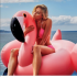 Надувной матрас розовый фламинго 150 х 105 см