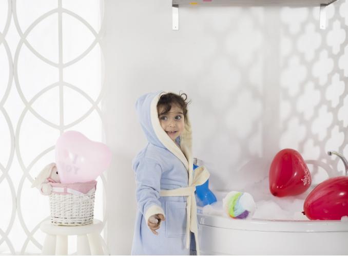 Халат детский с велюром с капюшоном SNOP (4-5 Лет)