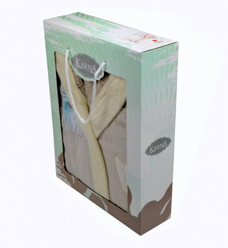 Халат подростковый с велюром с капюшоном SNOP (10-11Лет)