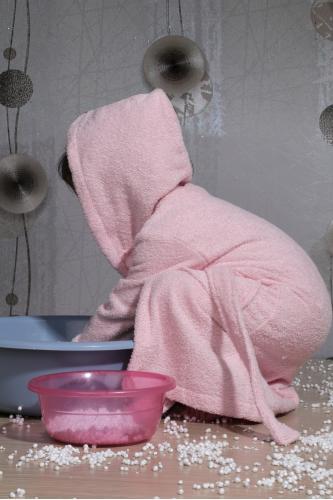 Халат детский махровый с капюшоном TEENY (Розовый)