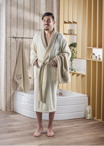 Набор халат махровый с полотенцем ADRA 1/3 (L/XL)