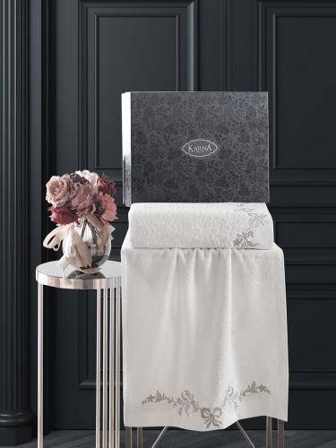Комплект махровых полотенец с вышивкой VALOR 50x90-70х140 см 1/2