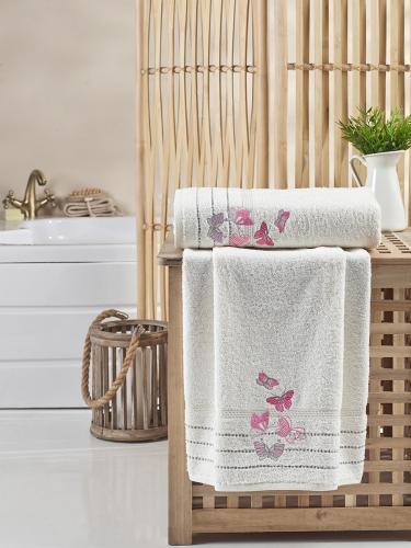 Комплект махровых полотенец BELINA 50x90-70х140 см