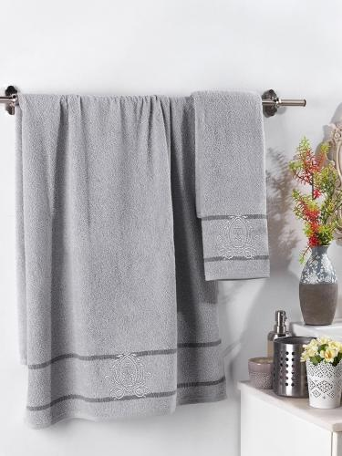 Комплект махровых полотенец с вышивкой DAVIN 50x90-70х140 см