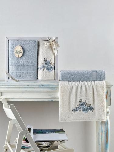Комплект махровых полотенец ELVIN 50х90*1-70х140*1 см 1/2