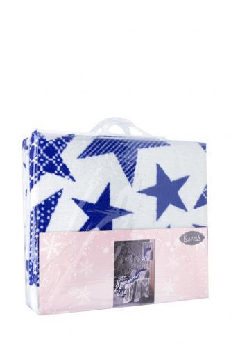 "Плед KARNA хлопок ""STARS"" 150x240 см (голубой)"