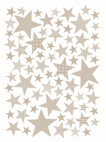 "Плед KARNA хлопок ""STARS"" 130x170 см (Бежевый)"