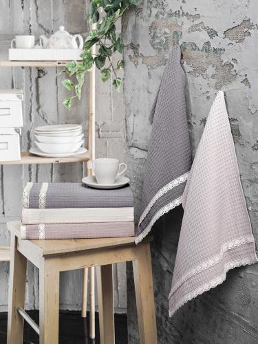 Кухонные полотенца вафельные c гипюром KOPENAKI 40x60 см 1/5