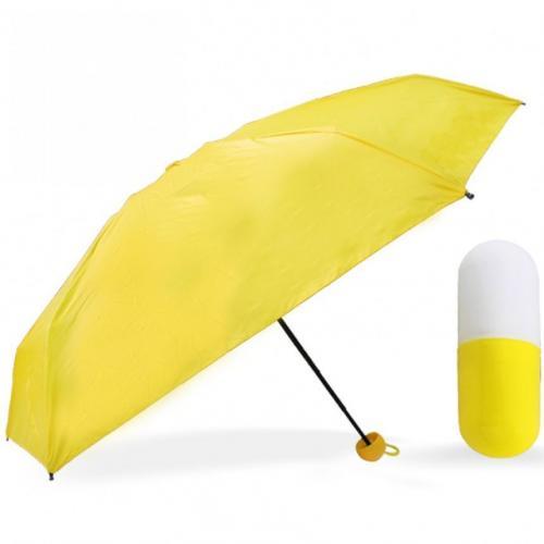 Мини зонт желтый