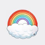 Пляжное полотенце покрывало Радужное облако