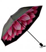 Зонт наоборот Розовый георгин