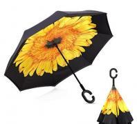 Зонт наоборот желтый цветок